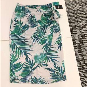 Tropical wrap skirt.